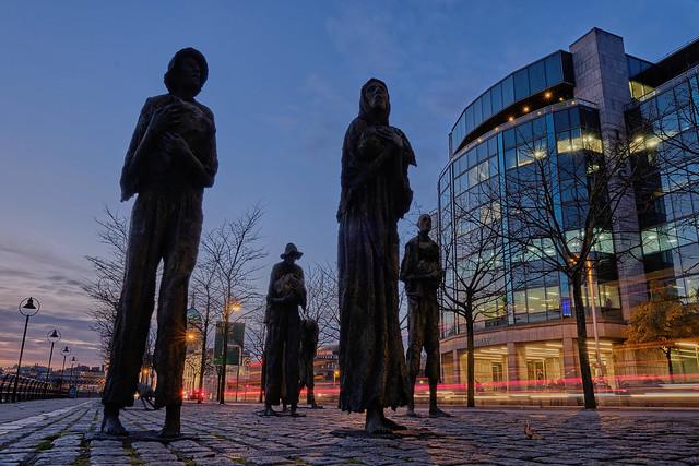 Famine Memorial, Dublin.