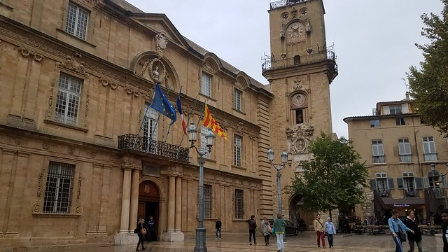 17th Century Town Hall (Hotel de Ville) and Adjoining Clock Tower (designed by Pavillon)
