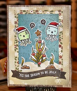 Lawn Fawn Christmas Fishes, Here We Go A-Waddling, Fancy Wavy Banners, MFT Scenic Safari, Double Stitched Rectangles, Mirror Image, SSS Stitched Shapes