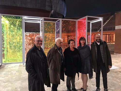 1  - Da sinistra, Alfredo Pirri, Giuseppe Vacca, il sindaco Resta, l'ambasciatrice Bitri e il dott. Patruno