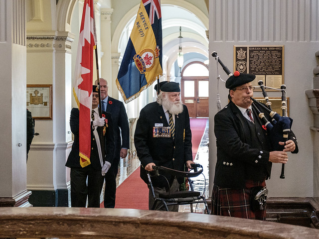 Remembrance Day Ceremony at the BC Legislature