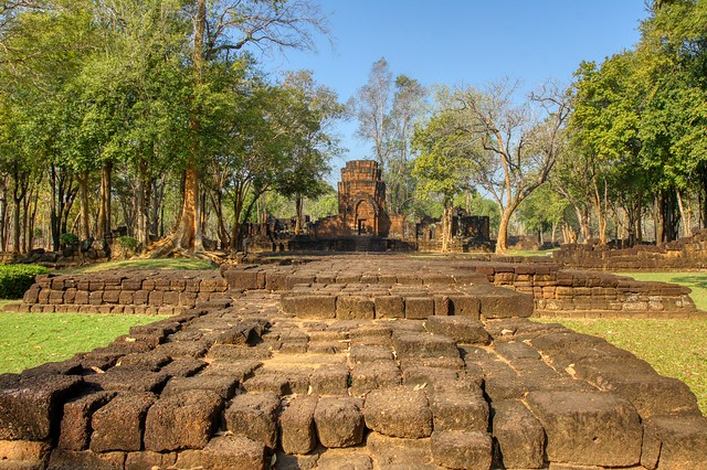 Khmer temple ruins in Prasat Muang Singh in Kanchanaburi, Thailand