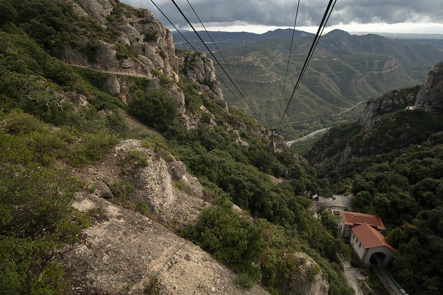 Cable Car View - Monistrol de Montserrat, Catalonia, Spain