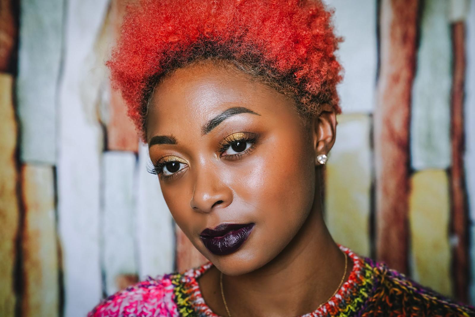how to wear dark lips on dark skin
