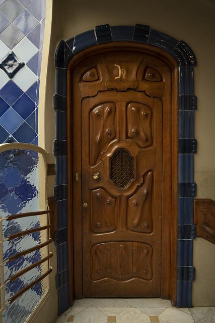 Casa Batlló Door - Eixample, Barcelona, Catalonia, Spain