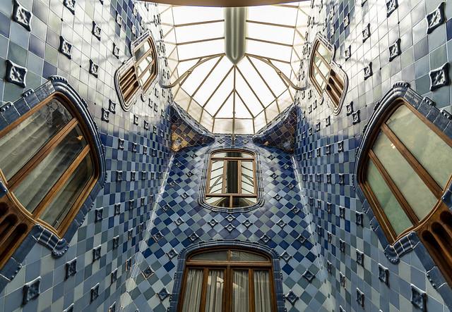 Casa Batlló Ceiling - Eixample, Barcelona, Catalonia, Spain