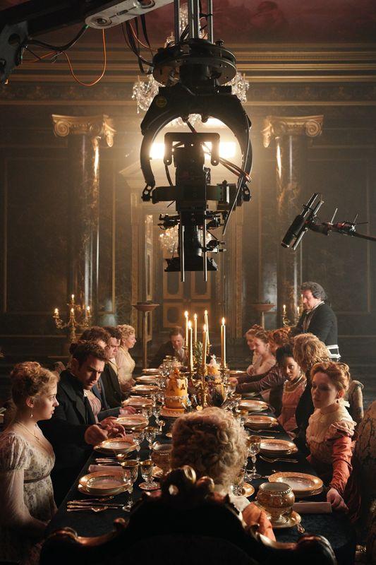 Scene of a classic period movie