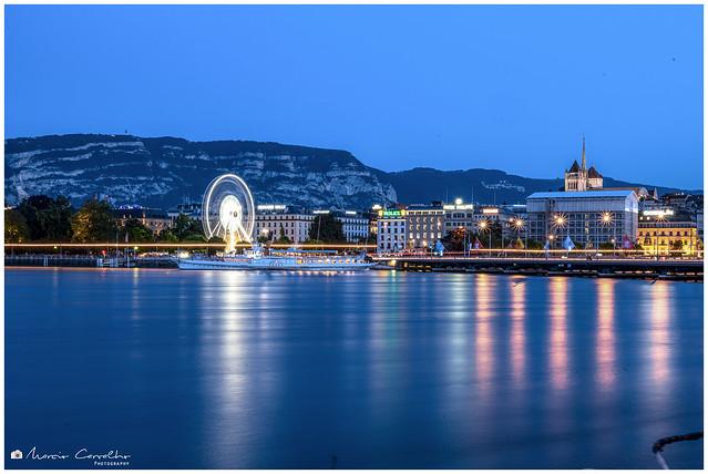 Lake Reflections - Geneva - Switzerland - NZ6_2359_2
