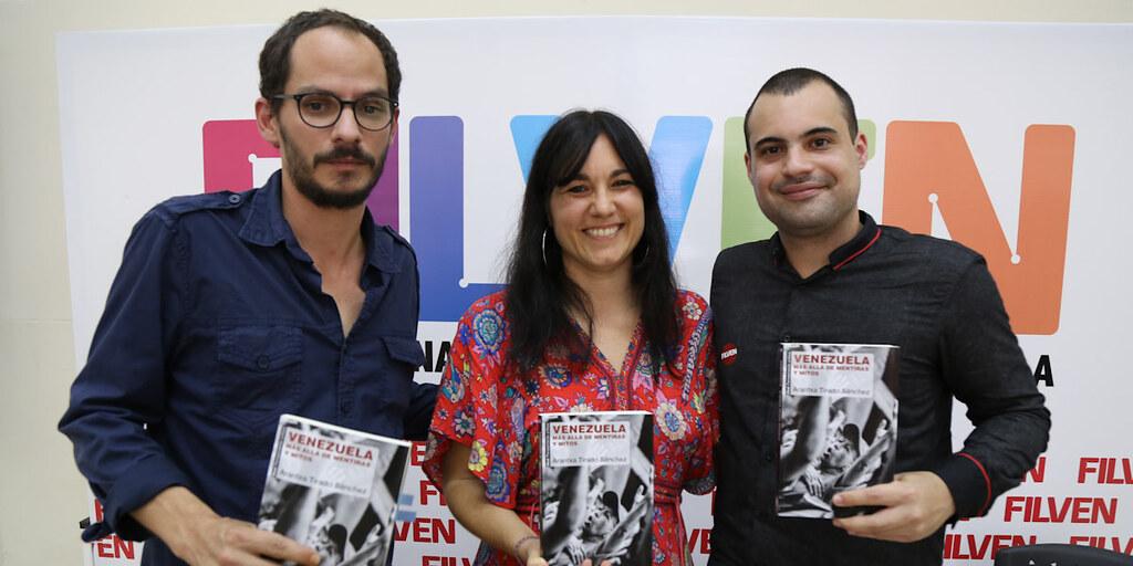 """Arantxa Tirado presenta su libro """"Venezuela más allá de la mentira"""" en Filven 2019"""