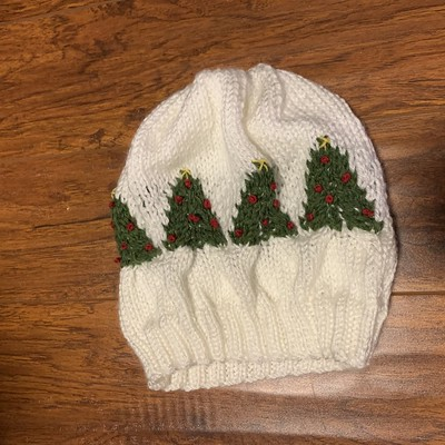 Sandi's Christmas Colour Cables Hat test knit is so cute!