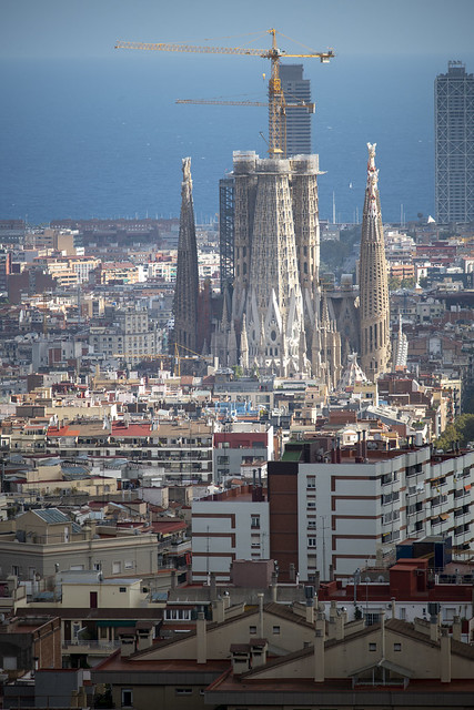 Sagrada Familia from Park Güell - Barcelona, Catalonia, Spain
