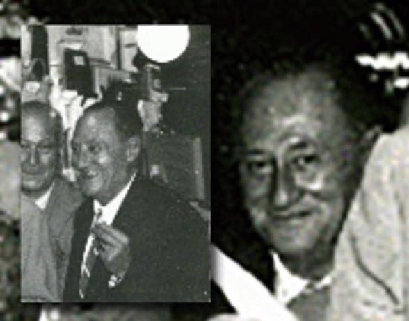 Retrato anónimo de José Codina Torrás en una fiesta del barrio de Gracia en Barcelona. 1957. Arxiu del distrito de Gracia.
