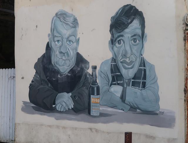Un couple du cinéma , Jean Gabin et Jean-Paul Belmondo