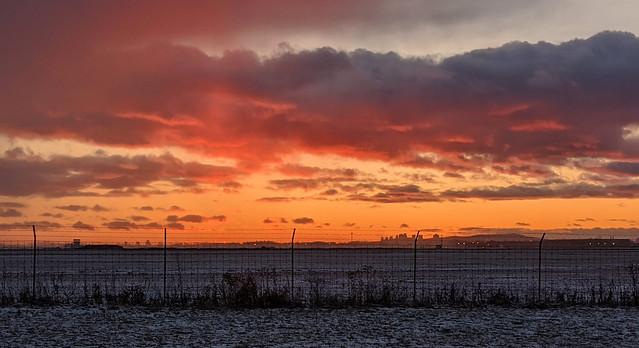 Sunset in St-Hubert, Quebec
