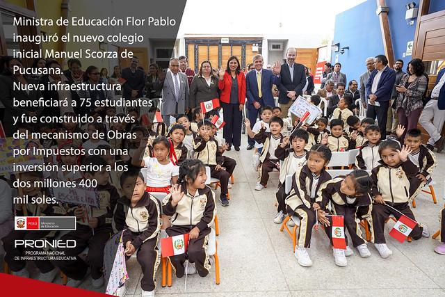 Ministra de Educación inauguró el nuevo colegio inicial Manuel Scorza de Pucusana