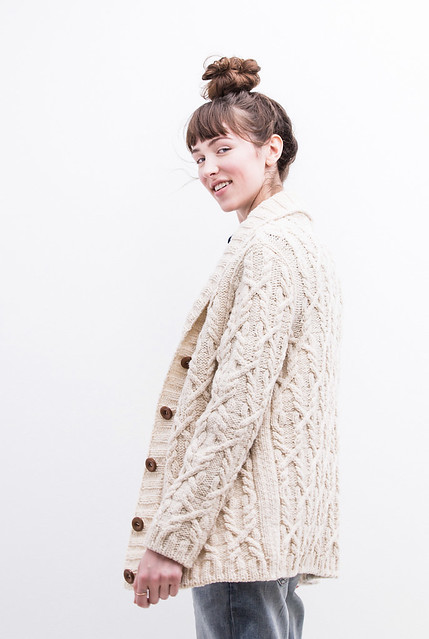 Snoqualmie by Michele Wang is a great cabled shawl-collar cardigan - classic and cozy!
