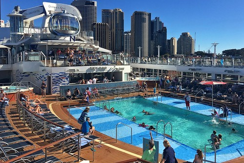ovationoftheseas cruise ship sydney pool deck north star