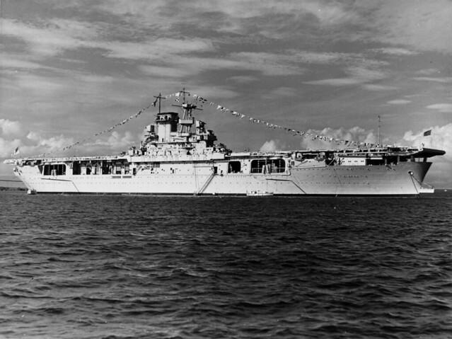 USS Wasp (CV-7) anchored in  Guantanamo Bay 27th October 1940.
