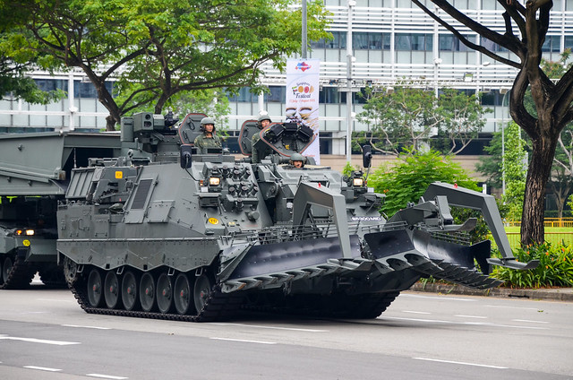 Singapore Army Leopard 2 Armoured Engineer Vehicle