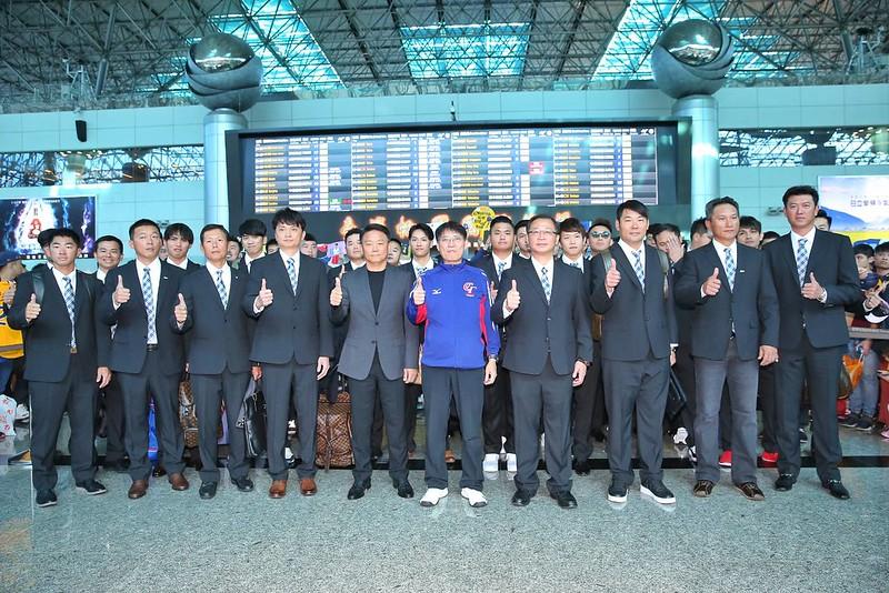 中華隊啟程前往日本。(圖/中華職棒提供)