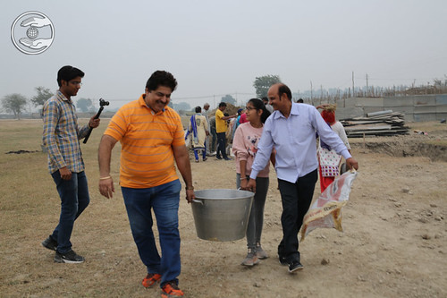 A view of selfless service at Samagam Ground