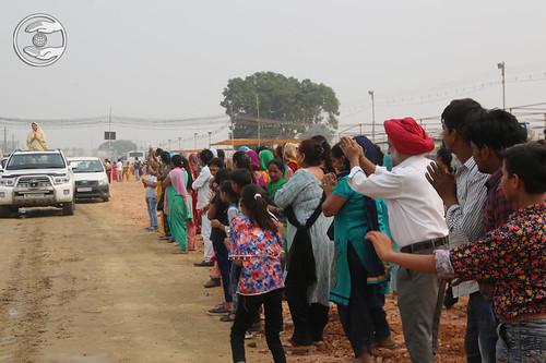 Satguru Mata Ji blessing devotees at Samagam Grounds
