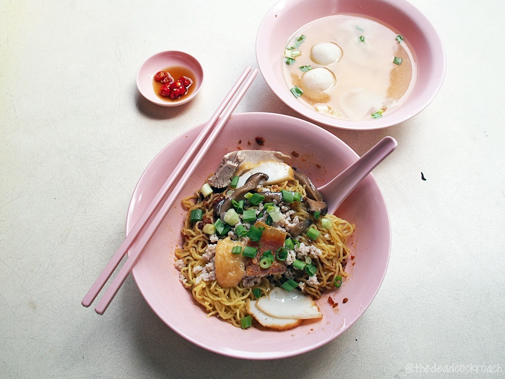 ah hor teochew kway teow mee, food, food review, mee pok, mee kia,review, sam leong road, singapore, 亚河潮州粿条面, bak chor mee,fish ball noodle