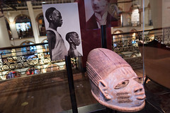 African sculpture showing facial scarification