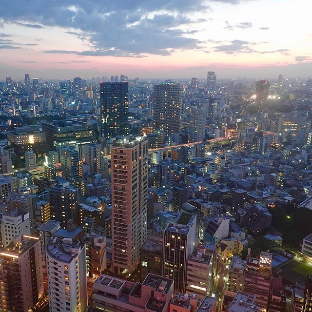 A view from observatory of #TokyoTower #東京タワー #tower #TorredeTokio #도쿄타워 #TorredeTóquio #ТелевизионнаябашняТокио #东京铁塔 #日本電波塔 #東京都 #Tokyo #港区 #Minatoku #芝公園 #ShibaPark #日本 #Japan #夕方 #夕暮れ #evening #twilight #dusk