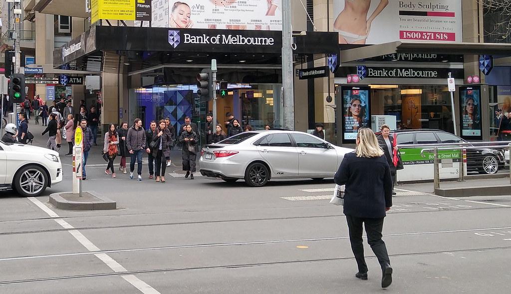 Bourke/Elizabeth Sts intersection, Melbourne