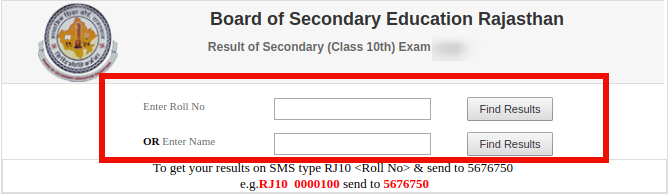 Check RBSE 10th Result 2020 Name Wise