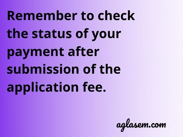 Check fee payment status of TS EdCET 2020 application form
