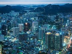 Anocheciendo en Seul