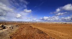 Landscape view from city of Madaba - Jordan.