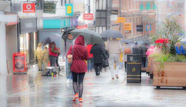 shrewsbury in the rain