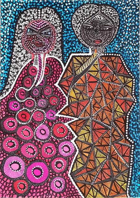 ציורי זוגות מירית בן נון ציירת ישראלית אמנית מודרני עכשווי