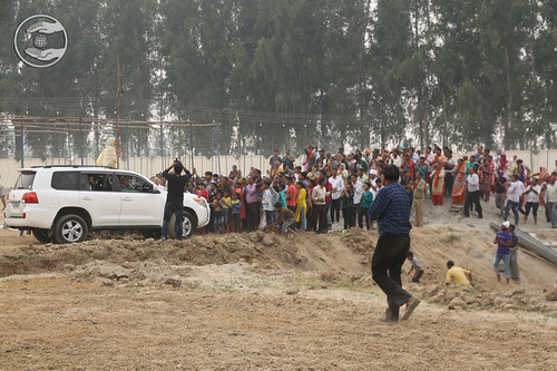 Satguru Mata Ji blessing devotees at Grounds