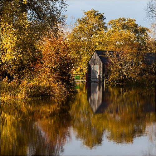 Llangors Barn reflection 6948 (philip hayman)