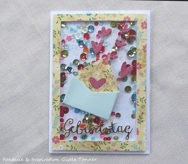 Geburtstagskarte - Shakercard