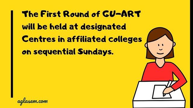 GU-ART 2020 Admission Round 1 Note