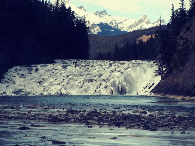 Bow Falls Canadian Majestic Rocky Mountains