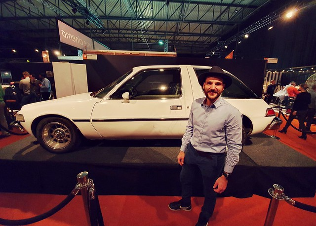 I am at Gentleman's Fair 2019 at Waregem Expo to draw a design on this old vintage Pacer car :)   #Waregem expo #GentlemansFair #benheine #benheineart #event
