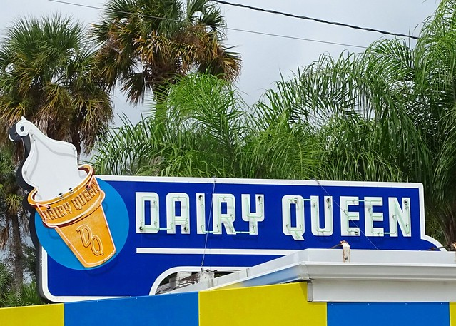 FL, New Smyrna Beach-U.S. 1 Dairy Queen Neon Sign