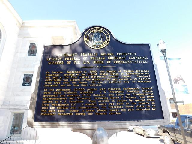 William B Bankhead Funeral Historic Marker