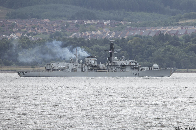 RN Type-23 (Duke-class) frigate HMS St Albans, F83, IMO 8949721; Firth of Clyde, Scotland