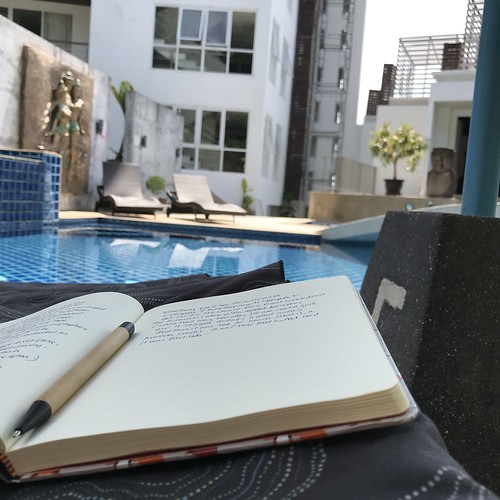 Poolside writing