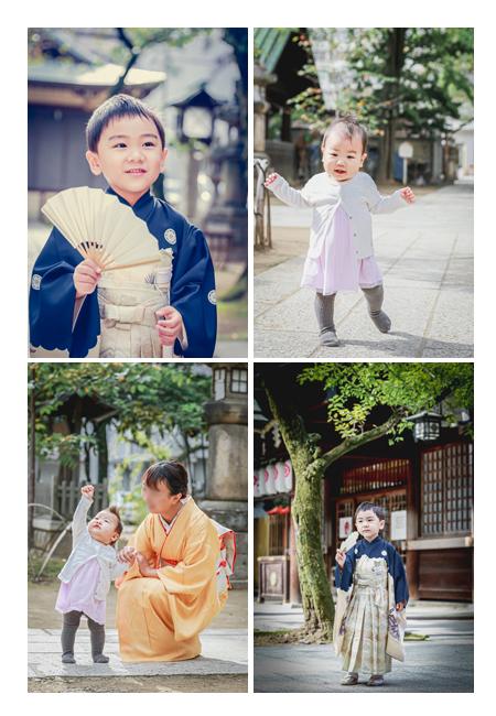 那古野(なごや)神社 兄弟の写真 七五三参りの日に神社で