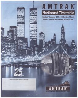 Amtrak Northeast Cover 1994