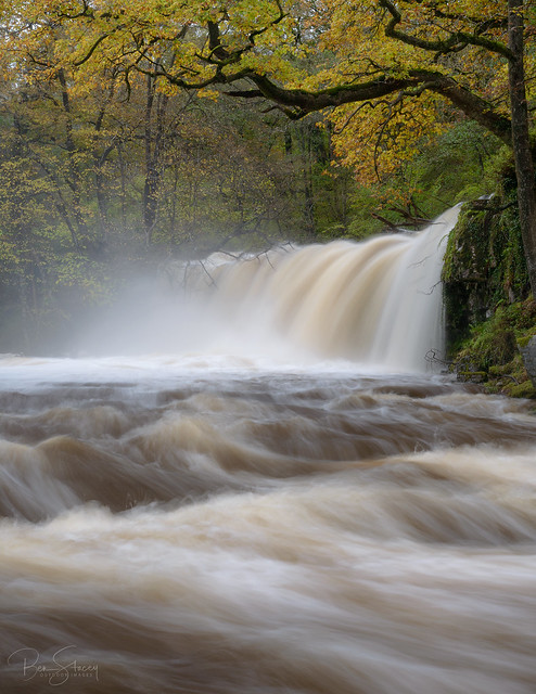 Sgwd Ddwli Uchaf (Upper Gushing Falls) - Brecon Beacons National Park, Wales