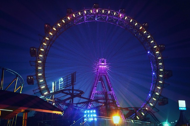 the Vienna giant ferris wheel, moving tradition